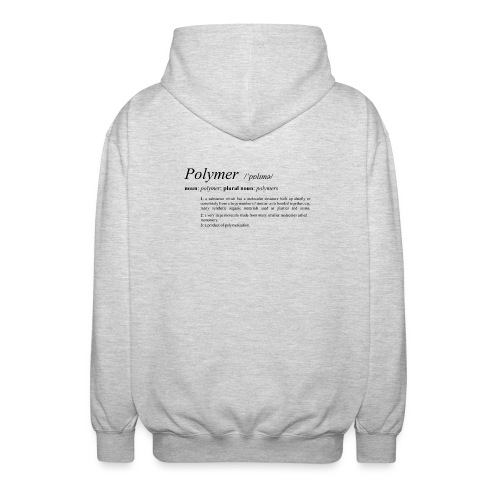 Polymer definition. - Unisex Hooded Jacket