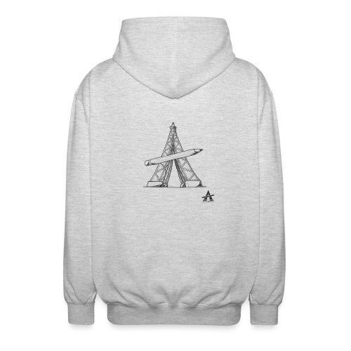 Tour Eiffel Crayon - Veste à capuche unisexe
