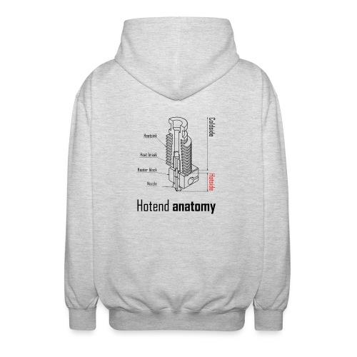 Hotend anatomy - Unisex Hooded Jacket