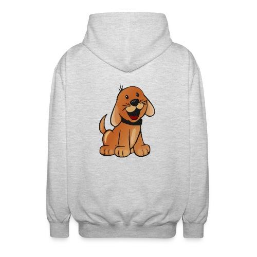 cartoon dog - Felpa unisex con cappuccio