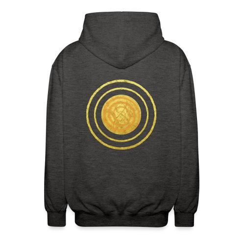 Glückssymbol Sonne - positive Schwingung - Spirale - Unisex Kapuzenjacke