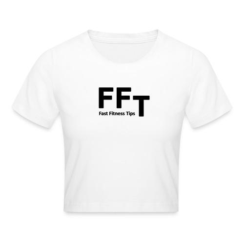 FFT simple logo letters - Crop T-Shirt
