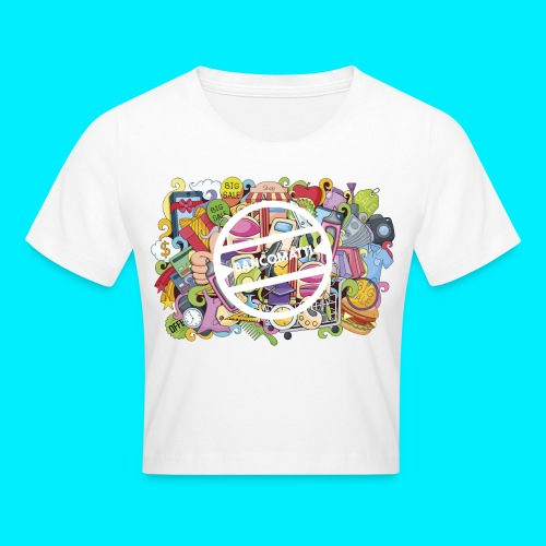 maglia logo doodle - Maglietta crop