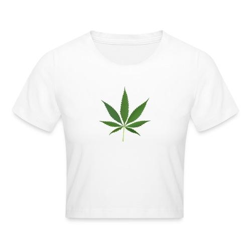 2000px-Cannabis_leaf_2 - Crop T-Shirt