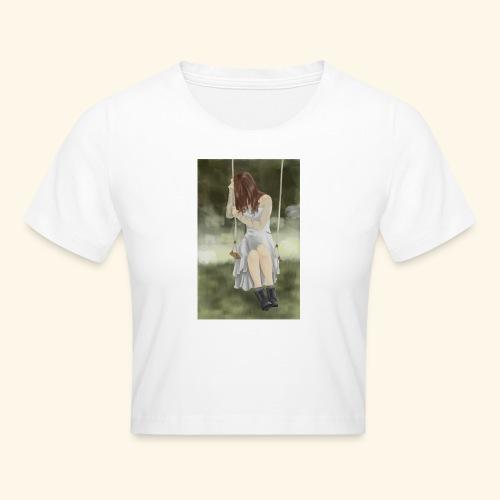 Sad Girl on Swing - Crop T-Shirt