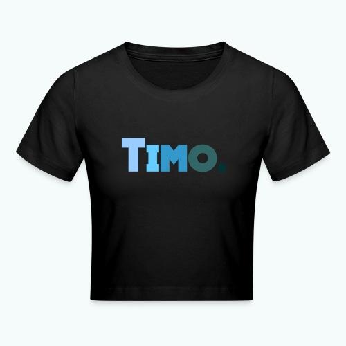 Timo in blauwe tinten - Crop T-Shirt