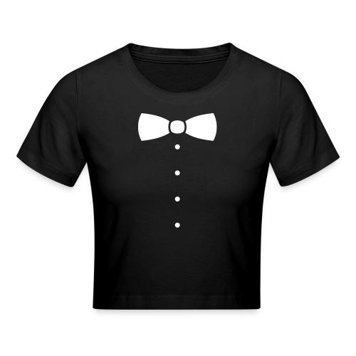 Vlinderdas of stropdas kostuum. - Crop T-Shirt