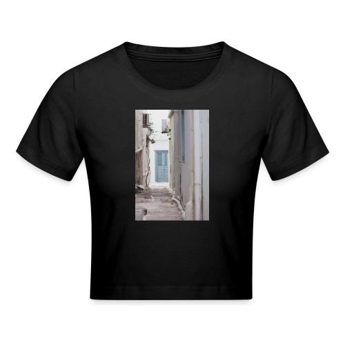 empty street in Mykonos - Krótka koszulka