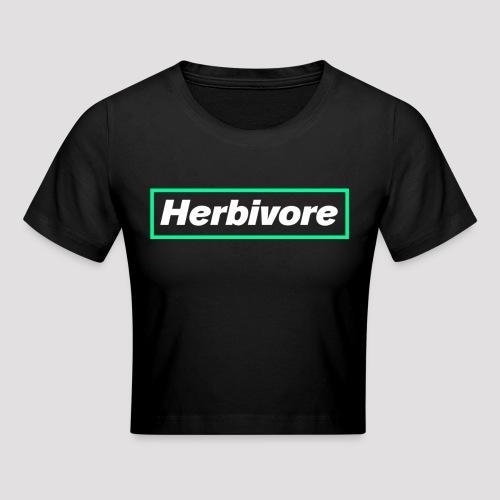 Herbivore Logo White - Maglietta crop