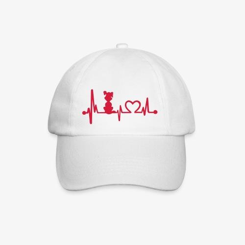 dog heart beat - Baseballkappe