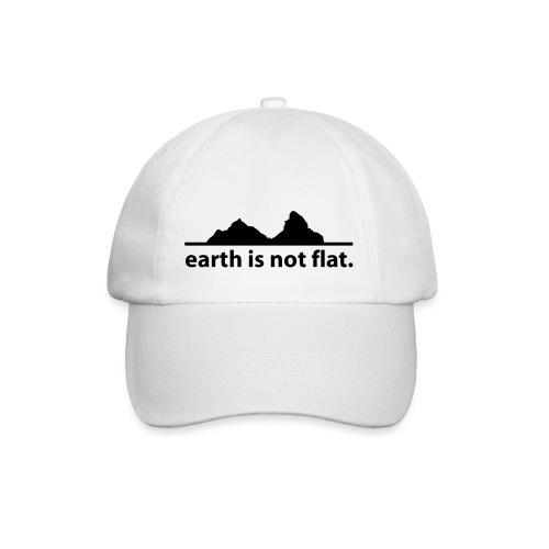 earth is not flat. - Baseballkappe