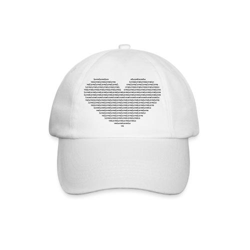 Isle of black Ascii Heart - Baseball Cap