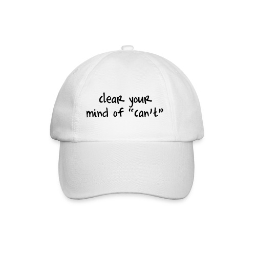 ''Clear your mind of Can't'' Motivational T-shirts - Cappello con visiera