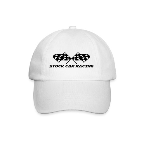 Stock Car Racing chequered flag, black - Baseball Cap