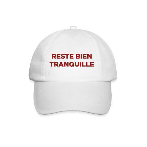 Logo Reste Bien rouge - Casquette classique