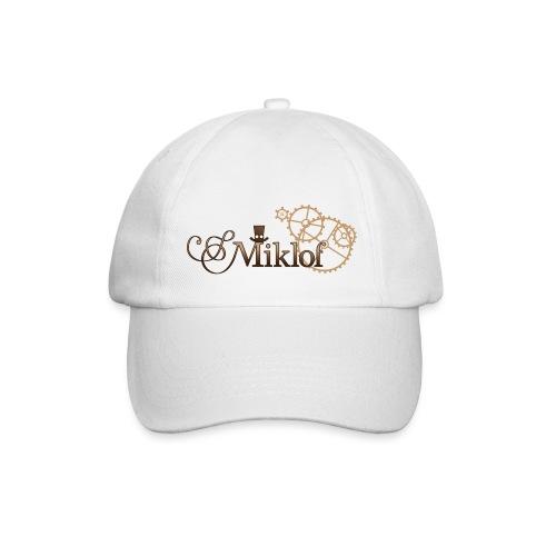 miklof logo gold wood gradient 3000px - Baseball Cap