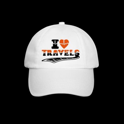 i love travels surprises 2 col - Baseball Cap