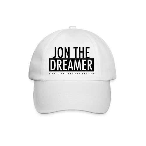 JON THE DREAMER LOGO - WHITE - Baseball Cap