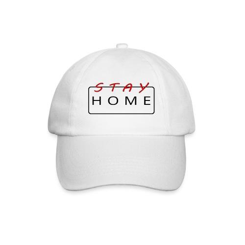 stay home rot/schwarz - Baseballkappe