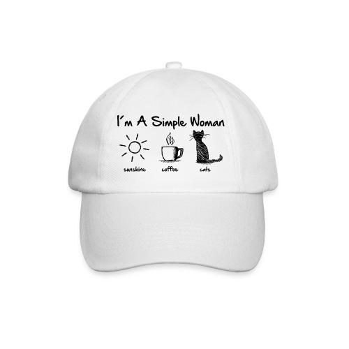 Vorschau: simple woman cats - Baseballkappe