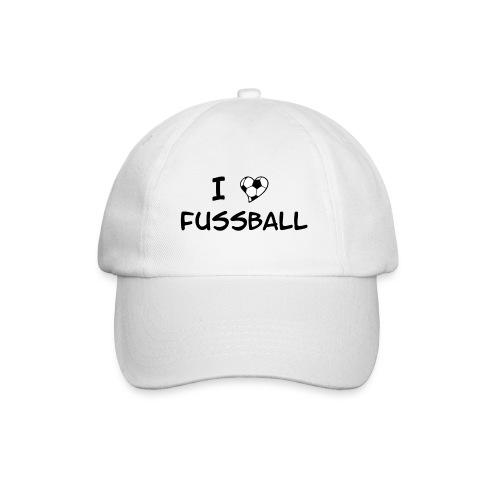 I Love Fussball - Baseballkappe
