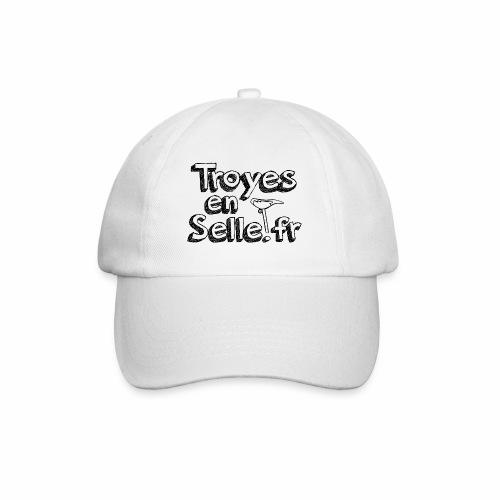 logo Troyes en Selle noir - Casquette classique
