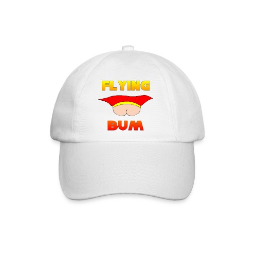 Flying Bum (face on) with text - Baseball Cap