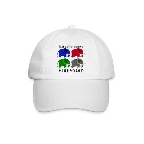 Vier Elefanten (Grafik) - Baseballkappe