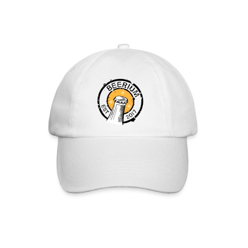 BEERIUM Logo mot vit - Basebollkeps
