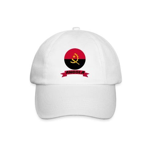 flag of Angola t shirt design ribbon banner - Cappello con visiera