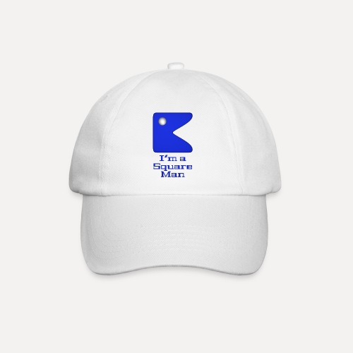 Square man blue - Baseball Cap
