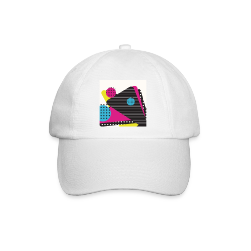Abstract vintage shapes pink - Baseball Cap