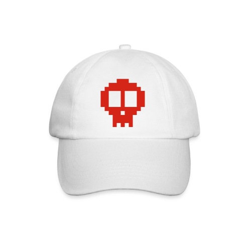 Pixel skull - red - Baseball Cap