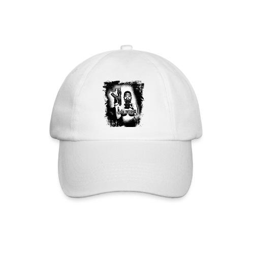 masked girl with AK - FUCK CORONA 4 white clothes - Baseballkappe
