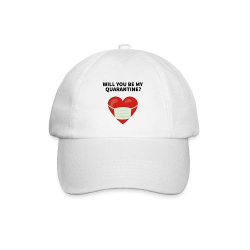 Herz mit Mundschutz und Schriftzug - Baseballkappe