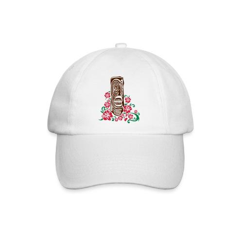 Tiki Totem with Hibiscus Flowers - Baseball Cap