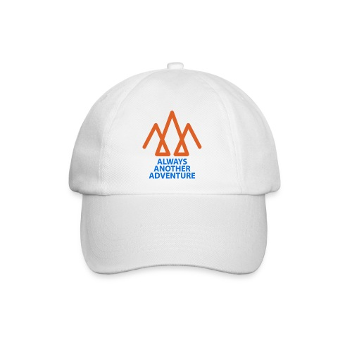 Orange logo, blue text - Baseball Cap