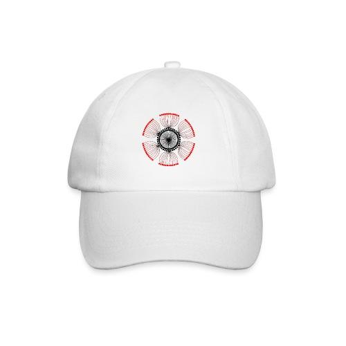 Red Poppy Seeds Mandala - Baseball Cap