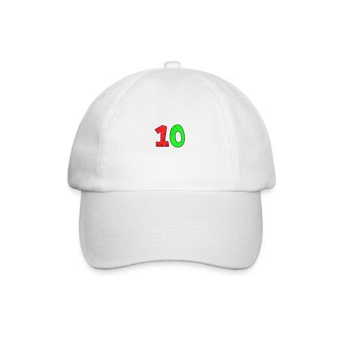 10 verde e rossa - Cappello con visiera