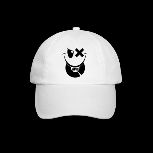 smiley acid techno vinyl - Baseball Cap
