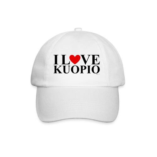 I LOVE KUOPIO (koko teksti, musta) - Lippalakki