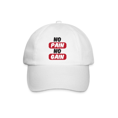 no pain no gain t shirt design fitness - Cappello con visiera