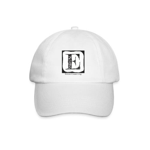 Logo ErrareUmano (scritta nera) - Cappello con visiera