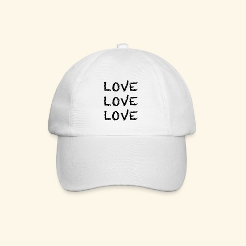 LOVE Black 001 - Baseballkappe