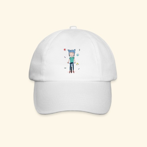 Girl with a cat hat on a bike - 90's - Casquette classique
