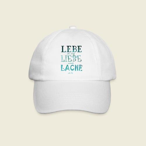Lebe Liebe Lache türkis - Baseballkappe