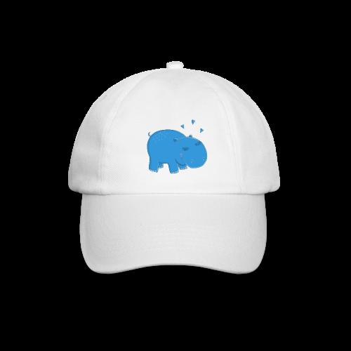 Kleines blaues Nilpferd - Baseballkappe