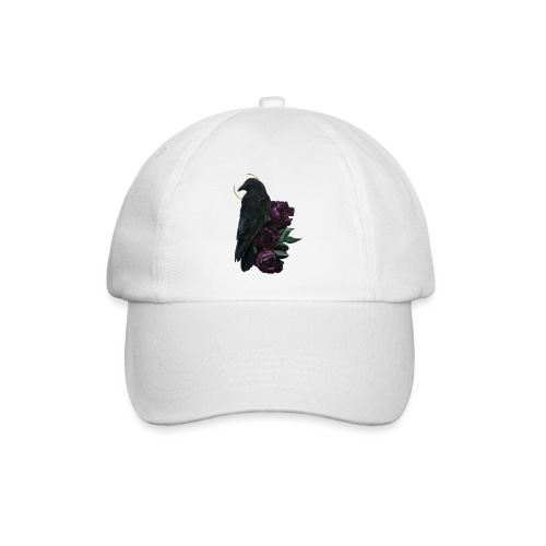 crow and flowers - Cappello con visiera