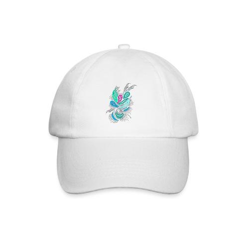 astratto foglie multicolore - Cappello con visiera