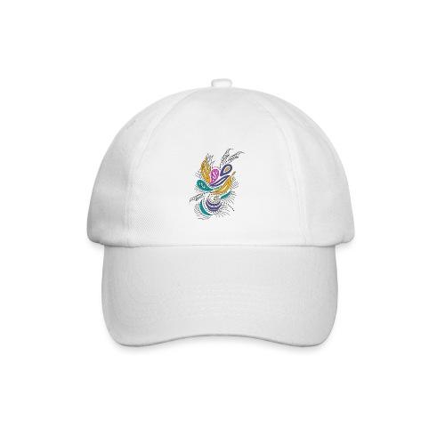 foglie geometriche multicolore - Cappello con visiera